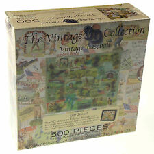 "Vintage Baseball Jigsaw Puzzle 18""x24"" 500 Piece 3D Collection Picture Easel NEW"