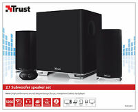 TRUST 20234 MAIA 60W RMS 120W PEAK BLACK 2.1 SPEAKER SET FOR PC, LAPTOP, ETC