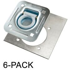 D-Ring Recessed 6,000 lb. Tiedown with Backing Plate Tie Downs - 6 Pack