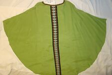 CASEL grün Kirchengewand Messgewand gotisch Kreuz             - 2G001
