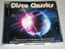 DISCO CLASSICS 2 CD'S MIT COMMODORES VILLAGE PEOPLE LUV HOT CHOCOLATE DIANA ROSS