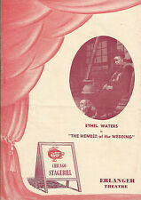 "Ethel Waters ""MEMBER OF THE WEDDING"" Carson McCullers 1951 Chicago Playbill"