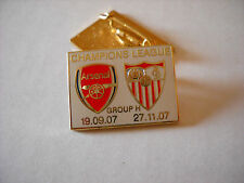 a1 SEVILLA - ARSENAL cup uefa champions league 2007 spilla football pin