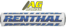 Renthal Supercross Bar Pad 10 inch/254mm White Blue Motocross Enduro