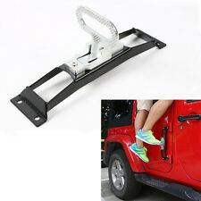 No Drilling Door Hinge Hinges Foot Rest Pegs Pedal For Jeep Wrangler JK 07-2016