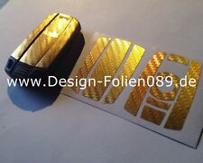 Carbon Chrom Gold Schlüssel Folie BMW Key 1,3, 5er X5 X6 E60 E70 E90 E91 E92 E93