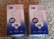 2 Ozone Lite Air Purifier Light Bulb NEW Eliminate Odor Smoke Kill Bacteria TIO2