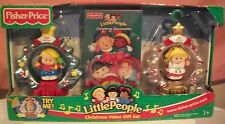 FISHER PRICE LITTLE PEOPLE CHRISTMAS VIDEO GIFT SET~ LIGHT UP ORNAMENTS RARE NIB