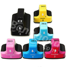 6 Ink Cartridges for HP 363 Photosmart 3110 3210v 3310xi C5180 C6180 C7180