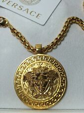AUTHENTIC GIANNI VERSACE MEDUSA HEAD NECKLACE CHAIN SHINY GOLD PLATED