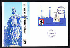 Gambia 1988 First Day Cover 750th Anniversary of Berlin cachet & stamp sheet FDC