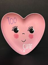 Pottery Barn Kids VALENTINE'S Day TOO CUTE PLATE Kitchen Table Easter Basket NEW