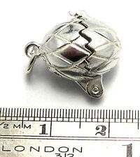 Welded Bliss Solid British Sterling 925 Silver Egg Opens to Chicken Charm