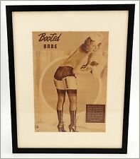Booted Babe Sunnie McKay Burlesque Fetish Girlie Magazine Pinup Framed Pin-Up