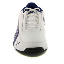 kids Puma Unisex Drift Cat 4 L Jr White, Navy Blue White Leather trainers size 3