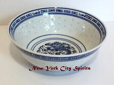 """Porcelain/Ceramic Soup Bowl 7""""d. x 3""""h Dragon Designed"""