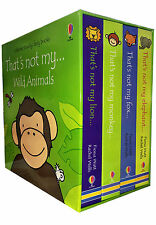 Wild Animals Collection Usborne Touchy-Feely 4 Books Set That's not my Lion, Fox