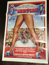 The Contest folded movie poster Adult Film X rated Ms Nude America Ron Jeremy