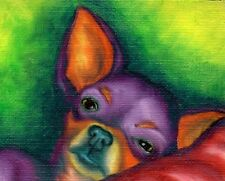 11X14 Colorful CHIHUAHUA Dog Pop Art PRINT of Original Oil Painting by VERN