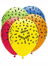 "Block Birthday Party Decoration 12"" Latex Balloons 6 Pack Lego Inspired"