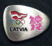 LONDON 2012 Olympic LATVIA NOC Internal team - delegation dated pink pin