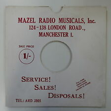 "78rpm 10"" card gramophone record sleeve / cover MAZEL RADIO MUSICALS red/ white"