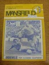 30/04/1983 Mansfield Town v York City  (Creased). Condition: We aspire to inspec