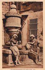 Paysannes Provencale A LA Corvee D'Eau / Fontaine Du Pevra Vence Postcard 1920s