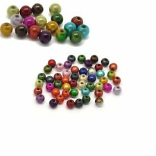 Mixed Miracle Acrylic Round Spacer Beads 6mm 450 Pack (1.2mm Hole)