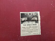 F1-1 ephemera 1972 advert the king's head falmouth church corner