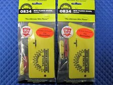 Off Shore Tackle Mini Planer Board Yellow Reversible OR34 W/OR16 Red Clip 2 PACK