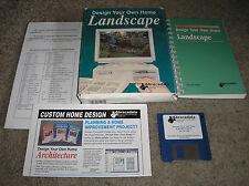 Design Your Own Home Landscape Vintage Mac Macintosh Computer Software COMPLETE!