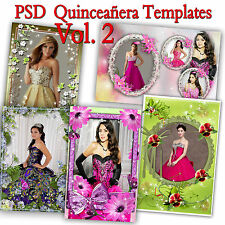 200 Photoshop Templates for Quinceañera-Quinceanera PSD Vol. 2