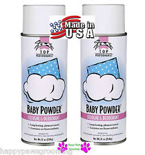 "2-PET GROOMING ""BABY POWDER"" PRO Aerosol Spray Cologne&Deodorant PERFUME DOG CAT"