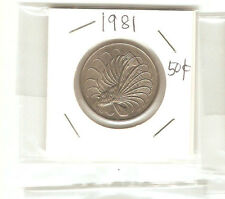 Offer Singapore 50 cents 1981  Fish coin  lustre/high grade! ??