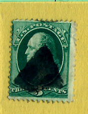 1800s US Stamp w/ Fancy Cancel:  SON Solid TRIANGLE Strike ~ Free Shipping..T1