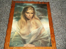 GIRL OF VALDARNO VINCIATA PRINT 18 X 24 INCHES on Wood under poly