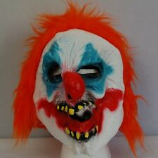 Evil CLOWN Joker Orange Hair Halloween ADULT Mask Costume Scary NEW Comic Lucha