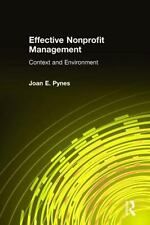 Effective Nonprofit Management: Context and Environment-ExLibrary