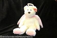 "TY Beanie Buddie Halo 15"" White and Pink 4th Generation Tag Angel Bear"