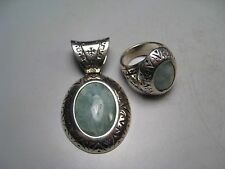 Matching Pendant & Ring Carolyn Pollack~Relios .925 Sterling Silver. 29.8g sz7.5