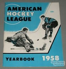 Original 1958 American Hockey League Yearbook