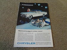 "1955 Chrysler Windsor Deluxe Vintage Magazine Ad ""Favorite of All Nations"""