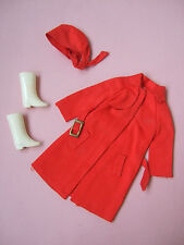 HTF Red for rain 1971 #3409  Mod doll clothes outfit set Vintage Barbie