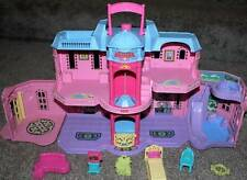 Fisher Price Sweet Streets Doll Grand Hotel Set Furniture Pink Blue Dollhouse