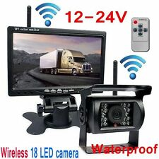 "Built-in Wireless Night Vision Rear View Camera 7""HD Monitor F Truck/Trailer/Van"