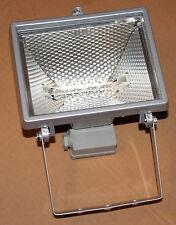 Halogenstrahler 400 Watt grau inkl Lampe Scheinwerfer Licht Sicherheit Fluter