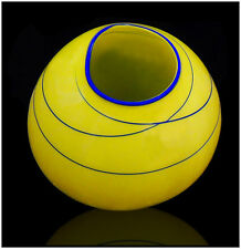 Dale Chihuly Rare Hand Blown Glass Citron Basket Signed Original Artwork Macchia