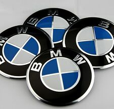 BMW ** 55mm *** WHEEL HUB CAP CENTRE PIECES X 4 **UNIVERSAL** MOST MODELS ** BMW