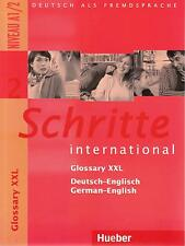 Hueber SCHRITTE INTERNATIONAL 2 Glossary XXL Niveau A1/2 German-English @NEW@